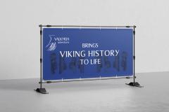 Banner til udstilling på Moesgaard Museum
