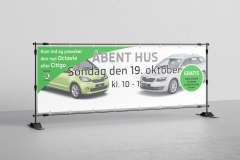 Kampagnebanner til Skoda Helsingør
