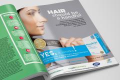 Annonce til engelsk hårmagasin