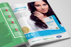 Annonce til engelsk helsemagasin