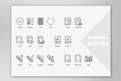 Ikoner til I-Trust udviklet software